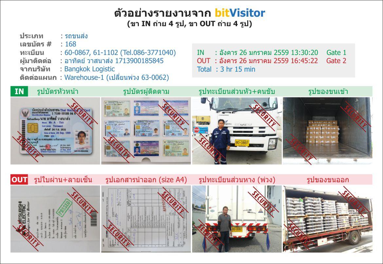 ระบบแลกบัตร bitVisitor - report